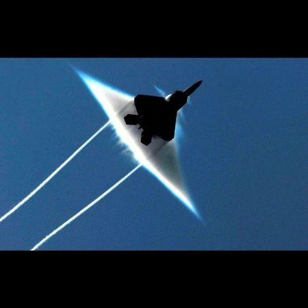 F-22 Raptor breaking sound barrier. F22 Raptor