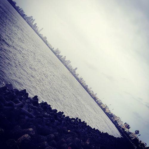 MumbaiDiaries Mumbai_in_clicks Marine Drive Myshot IPhoneography Iphonephotography Mumbai Monsoon On The Way....☁⚡☁💧💦💧 Monsoon Diaries MyCity❤️