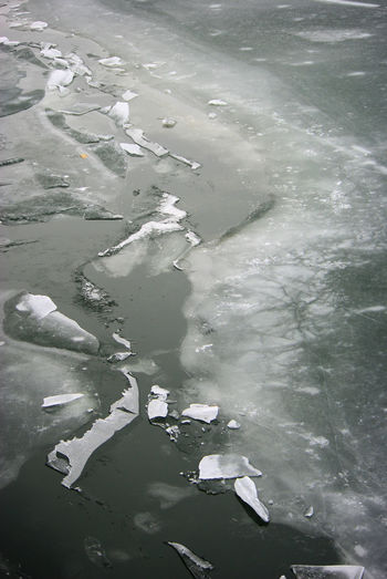 Abstract Nature Melting Snow Beauty In Nature Day Frozen River High Angle View Lake Melting Ice Nature Nature Pattern No People Outdoors Water