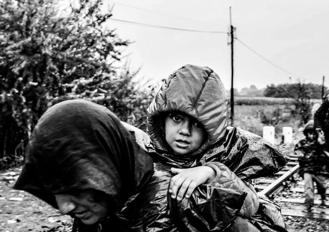 Untold Stories Refugees Refugeeswelcome Helping Refugees Kids Strange Portrait Blackandwhite Blackandwhite Photography Photography