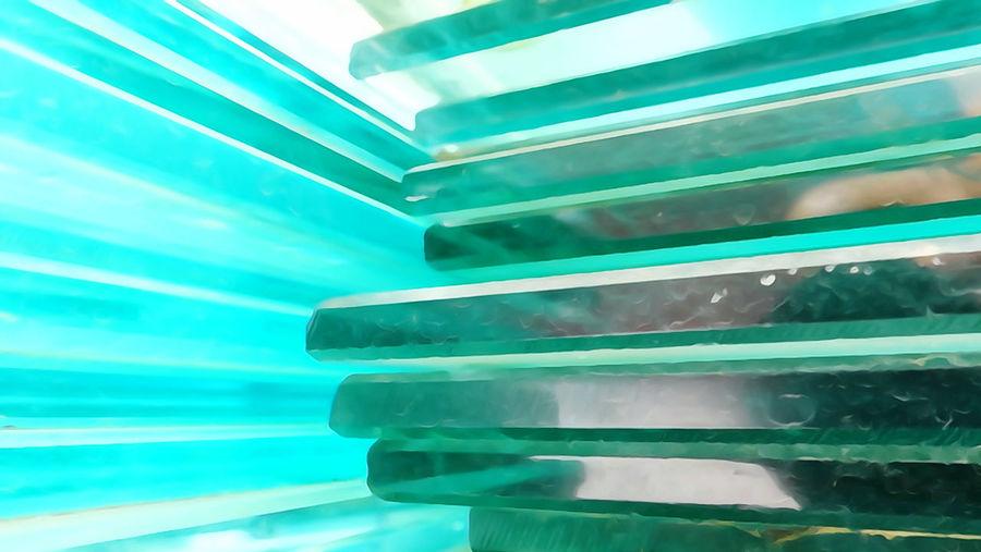 Full frame shot of bottles in swimming pool
