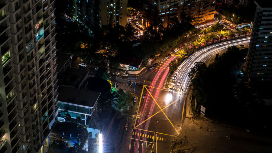 Light Trail from Capri Hotel Rooftop Architecture City Street Illuminated Lighttrail Lighttrails Night No People First Eyeem Photo