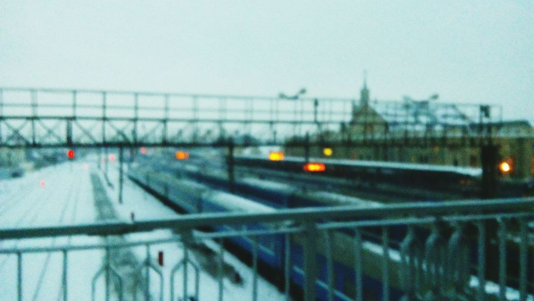 City Transportation No People City Bridge - Man Made Structure Sky Snowing Day City Life Happy Hour City Built Structure