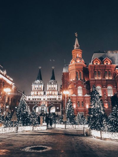 Building Exterior Architecture Built Structure City Night Illuminated Christmas Tree Travel Destinations Nature Building Sky Celebration christmas tree Christmas Decoration Street Winter Christmas Lights Travel Government