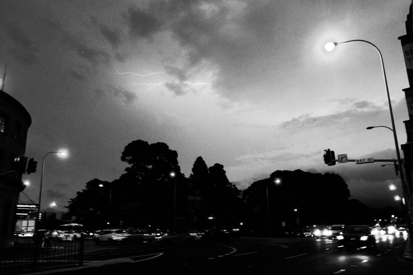 Lightning over Victoria Park, Ultimo. Lightning Blackandwhite Streetphotography Moody IPhoneography