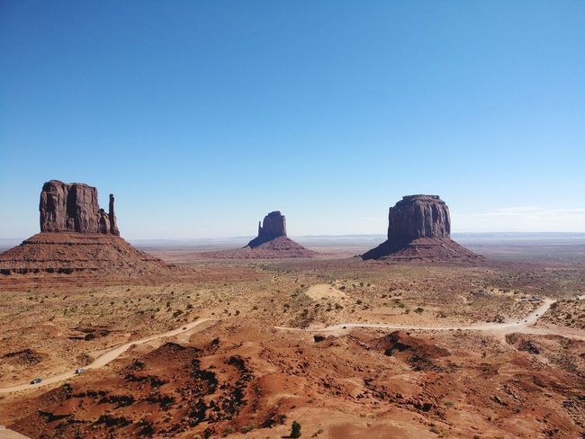 Desert Rock - Object Sunny Sand Clear Sky Arid Climate Blue Sand Dune Sky Travel Destinations Landscape Nature Scenics Beauty In Nature Outdoors No People Day Monument Valley Hot Day Beauty In Nature Amazing Experience Holiday Trip Deserted Scapes EyeEmNewHere