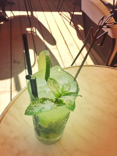 Mojito Drink Refreshment Drinking Glass Cocktail Mint Leaf - Culinary Drinking Straw Green Color Freshness Alcohol Lime