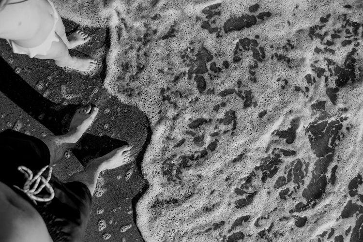 High Angle View Of Couple At Beach