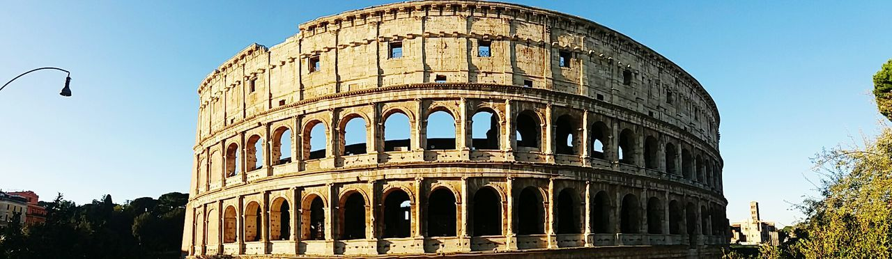 City Outdoors History Low Angle View No People Architecture Sky Day Colloseum Colloseum In Rome Rome Roma Italia Italy Blue Sky Architecture Seightseeing Colosseum Building Exterior Built Structure Panorama Arround The World By Lufthansa Travel Panor