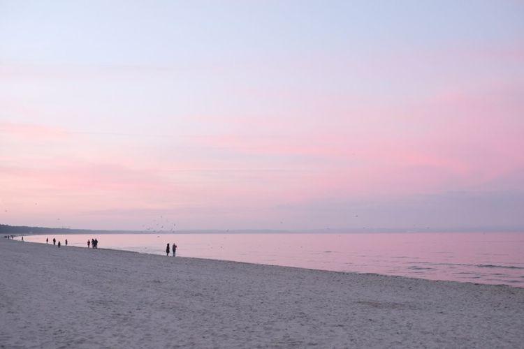 Sunset Beach The Purist (no Edit, No Filter) Colors Pastel Pastel Power Sky