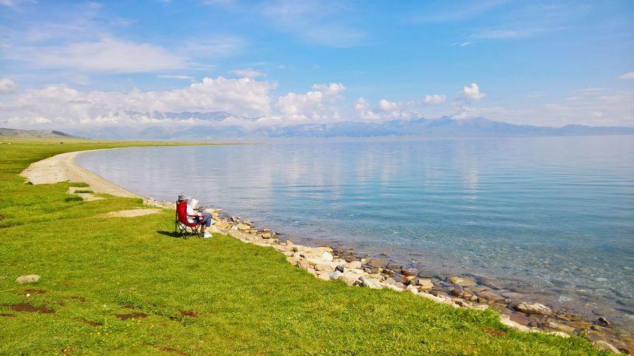 Idyllic lake in china
