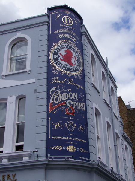 "Pub Signage "" Advertising Blue Sky White Clouds Composition GB London Portobello Road Pub Signage Bar Building Exterior Built Structure Capital City Communication Full Frame Hoarding London Spirit Low Angle View No People Outdoor Photography Red And Blue Colour Signage On Building Text Tourist Destination Travel Destination Uk"