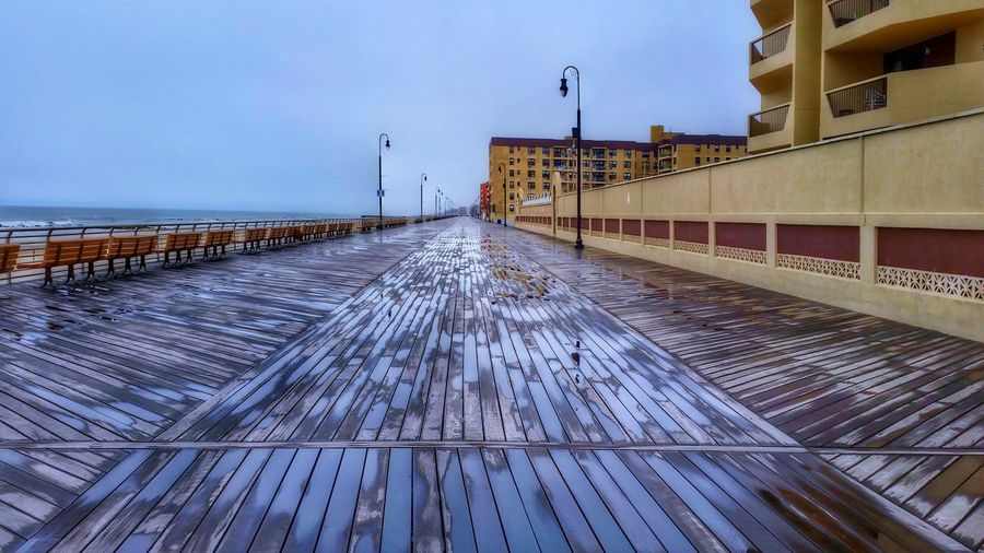 A higher angle on the boardwalk (in HDR) -- you can see the non-hdr version on my other account: @simplepoetography. Hdr_Collection Hdr Edit Boardwalk Architecture Buildings Building Building Exterior Built Structure Sky Cloudy Cloud - Sky Rain Rainy Days Water Water_collection Water Reflections Reflection Outdoors No People Day Reflection_collection Overcast Pattern Urban Geometry