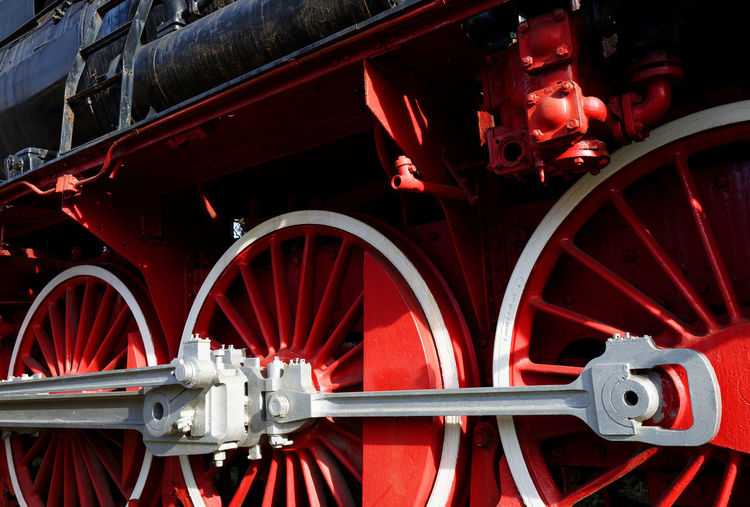 Cropped Image Of Steam Train At Museum