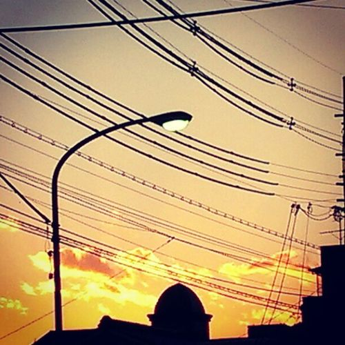 #sunset #magichour #streetlight #electricline Sunset Streetlight Magichour Electricline