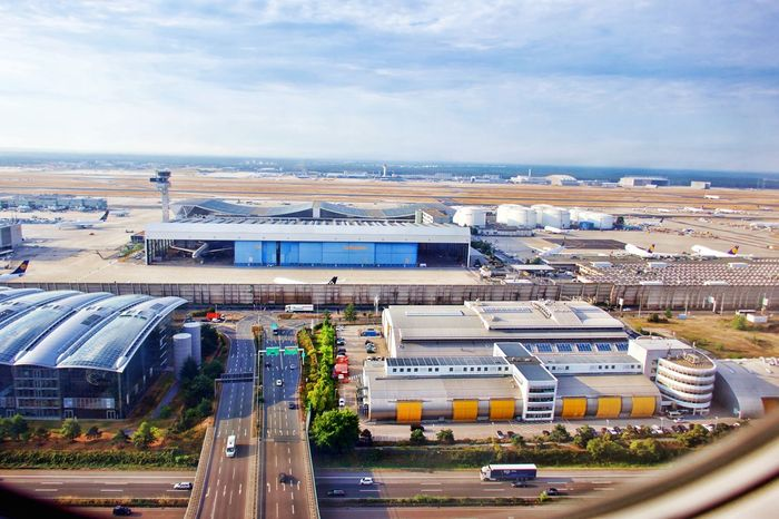 Airport Airport Frankfurt Architecture Building Building Exterior Built Structure High Angle View Mode Of Transportation No People Outdoors Transportation