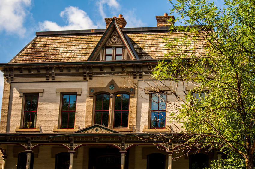 Architecture Building Building Exterior Built Structure Cloud - Sky Day History House Low Angle View Nature No People Old Outdoors Plant Residential District Sky Sunlight The Past Tree Window