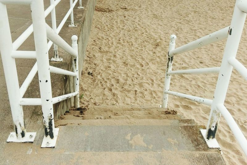 Beach Sand Stairs Railing Dundee Broughty Ferry