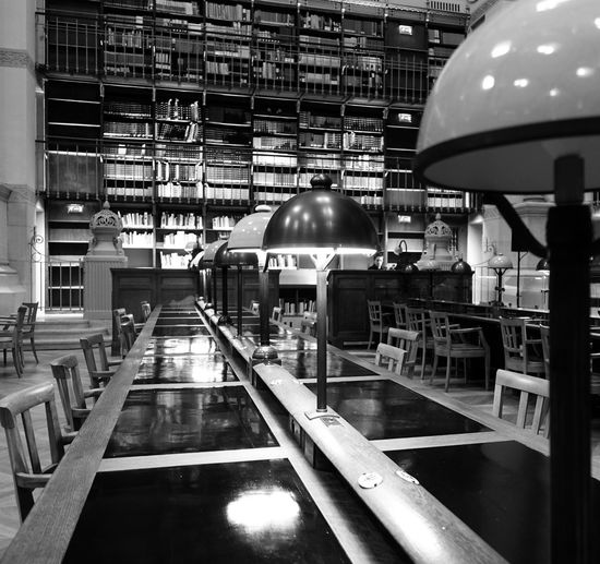 Paris, France  Salle Labrouste Architecture Bibliotheque Nationale Richelieu Built Structure Illuminated Indoors  Inha Library Building No People
