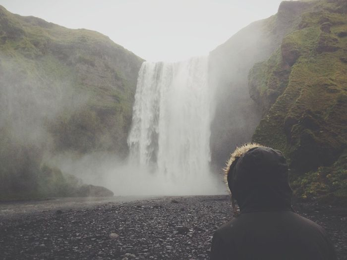 People And Places Iceland Waterfall Beauty In Nature Power In Nature Idyllic Iceland EyeEm Selects