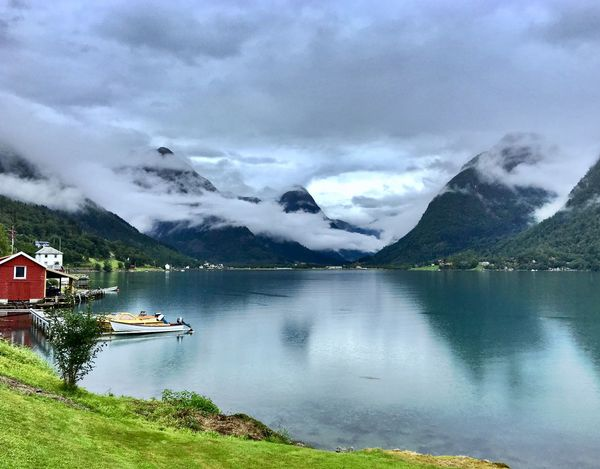 Norway Mist Calm Planet Earth Travel Natural Beauty Serenity Fjord Water Cloud - Sky Mountain Scenics - Nature Beauty In Nature Sky Mountain Range Tranquil Scene Lake Tranquility Non-urban Scene No People Nature Snowcapped Mountain