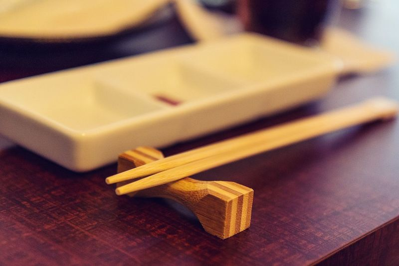 Wood - Material Indoors  Table No People Close-up Food Day Chopsticks Hashi Japanese  Chinese Korean Asian  Foods Eat Serving Size Serving Dish Indoors  Still Life Focus On Foreground Education Asian Food Yellow Flame Selective Focus Food And Drink Japanese Food Work Tool Pencil Chinese Food