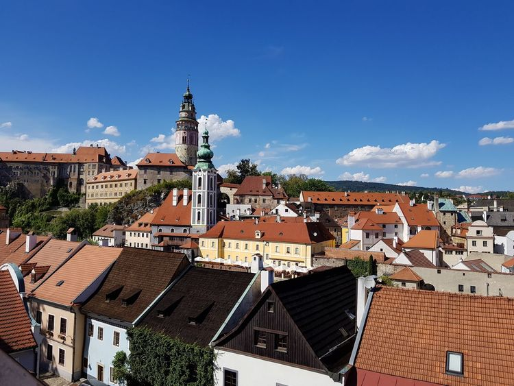 UNESCO World Heritage Site Unesco Medieval MedievalTown Castle View Rooftop Chesky Krumlov Chez Republic Beautiful City Cityscape Place Of Worship Roof Town Sky Architecture Building Exterior Built Structure TOWNSCAPE Old Town Historic