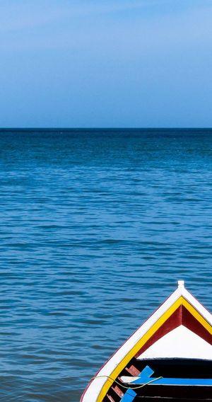 Boat Boat Colorful Blue Sky Blue Sea Tranquility Venezuela Scenics Seascape Seaside Peñero