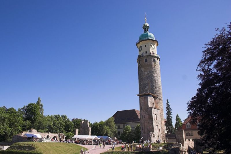 Façade Schloss Neideck Arnstadt Clock Tower Place Of Worship Architecture Kaiserwetter Blue Sky Tower
