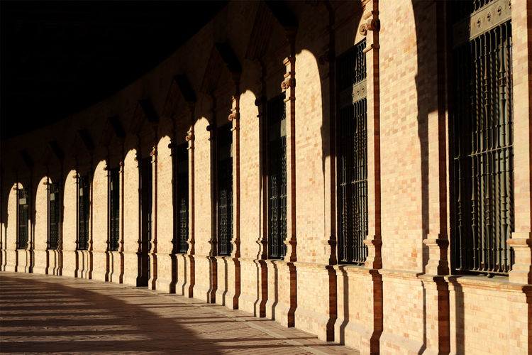 Ancient Ancient Civilization Architectural Column Architecture Built Structure Contrast Contrast And Lights Contrast Of Shadows Day History In A Row No People Outdoors Plaza España Sevilla Sevilla Sevilla #andalucía Sevilla Andalucía Sevilla Spain Sevillagram Shadow Sunlight Travel Destinations