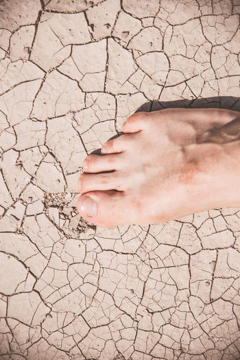 Holiday Summertime Arid Climate Body Part Close-up Cracked Dry Hot Weather Human Body Part Human Feet Nature One Person