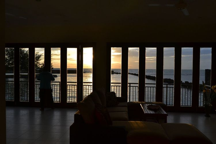 Indoors  Window Architectural Column Viewscape Sunsets