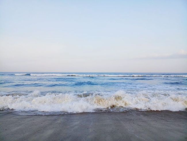 Beach Sea Sand Horizon Over Water Wave Water Beauty In Nature Sky Surf Cloud - Sky