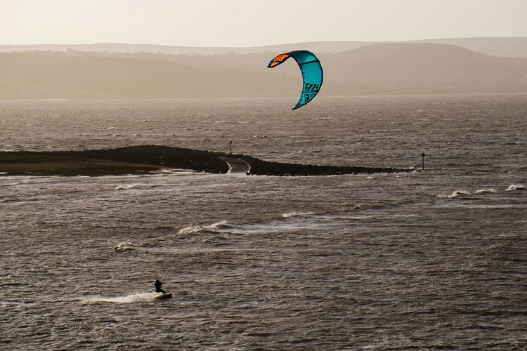 Morning thrill seeker Kitesurfing Kiteboarding Seaside Thrillseeker Thrill Rides Seascape Wales