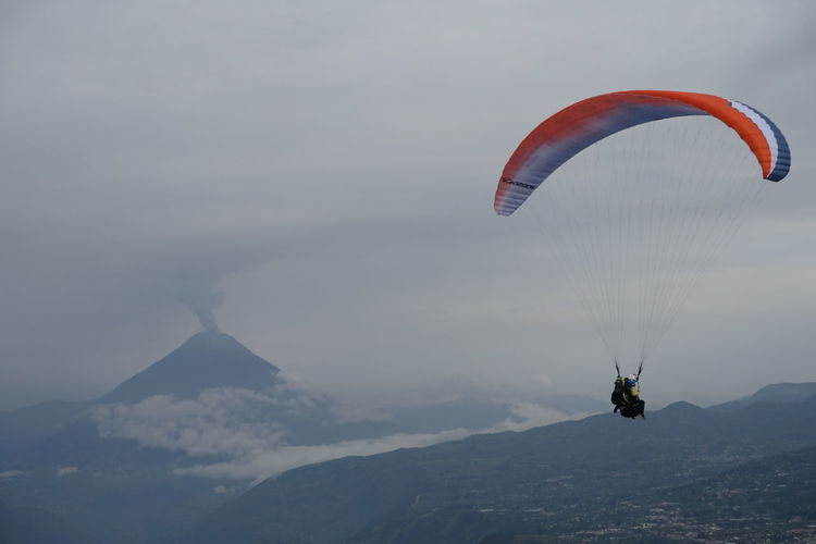 Paragliding in Ecuador near Tungurawa volcano. Clouds Clouds And Sky Cloudscape Flight Fly Flying Freedom Mountain Paraglide Paragliding Tungurahua Tungurahua-Ecuador Tungurahua Volcano Volcano Mountains And Sky Volcano Eruption Raw