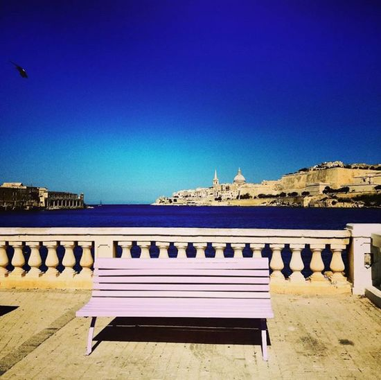 Sea Clear Sky Water Blue Outdoors No People Sky Day Nature Architecture City Beauty In Nature Malta Valletta,Malta Erasmus