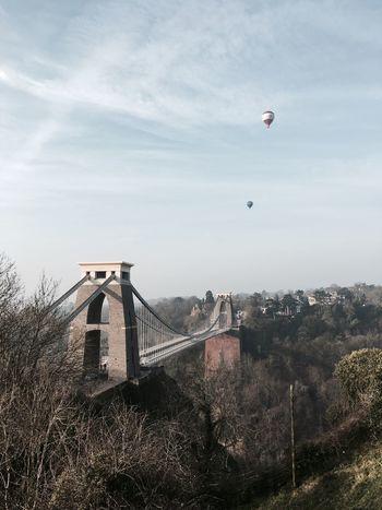 Morning stroll overlooking the Avon Gorge. Clifton Suspension Bridge Morning Balloons Bridge Showcase March Sky Spring Landscape Tranquility Here Belongs To Me Landscapes With WhiteWall