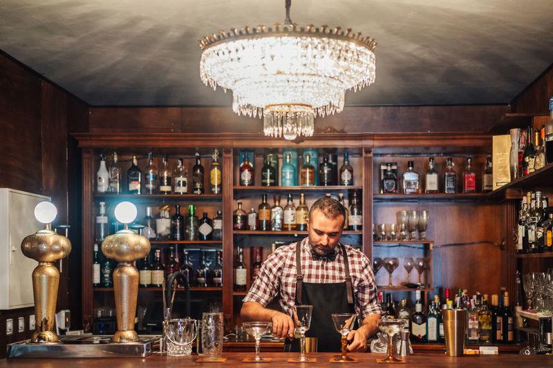 Portrait of man working in restaurant