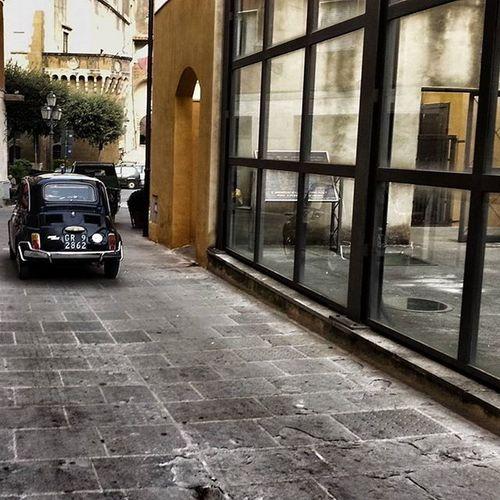 Narrowstreets LittleCar Pitigliano Italia Italygram Travelgram Italianadventure