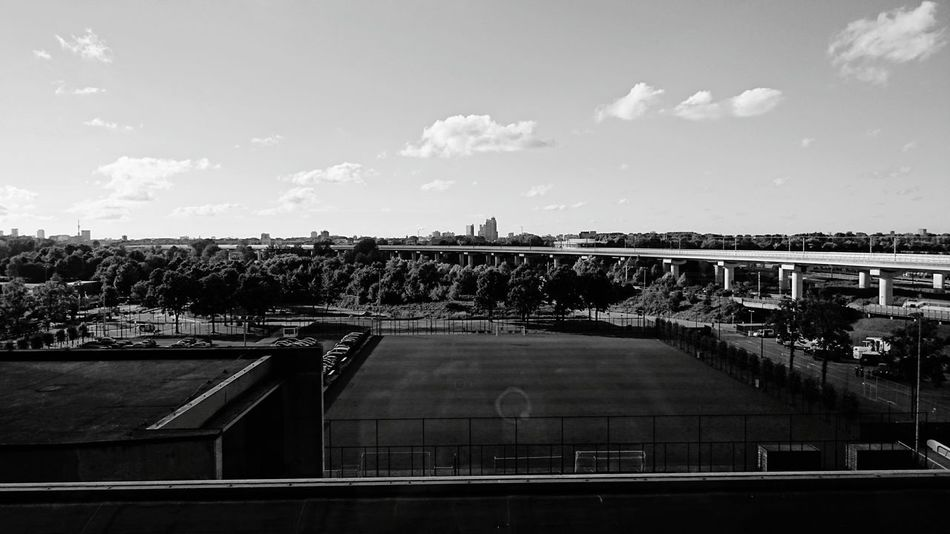 Hidden Gems  View on Skyline of Amsterdam as seen on the upper Balcony of the Amsterdam ArenA Stadium during the Half Time of Feyenoord Rotterdam against Psv for Dutch Charity Shield (c) 2016 Shangita Bose All Rights Reserved Amsterdam Netherlands Golf Course Subway Rails Trees Black And White Monochrome Showcase July Color Of Life Monochrome Photography