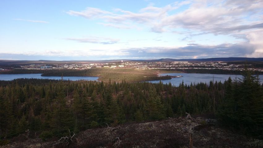 Sunlight over Wabush Tranquility Outdoors Beauty In Nature