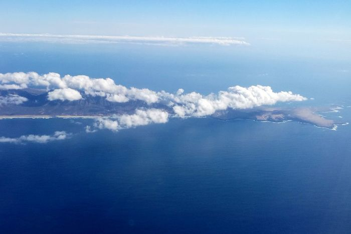 Vapor Trail Water Sea Airplane Blue Sky Cloud - Sky Plane