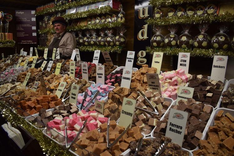 Various flowers in market