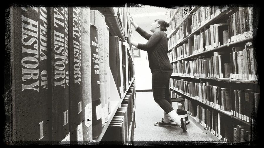Librarybooks Contemplation Searching Haven