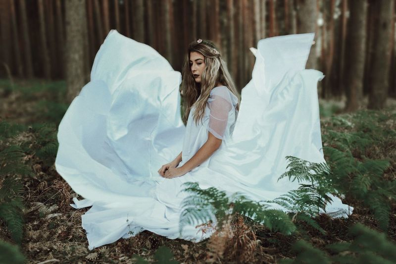 Fairytale Nature Day One Person Outdoors Women Real People EyeEmBestPics EyeEm Gallery EyeEmNewHerе Beautiful Woman Full Length Young Adult Young Women Tree One Woman Only Nature Adult People Eyesight Portrait The Week On EyeEm Fashion Photography Green Color