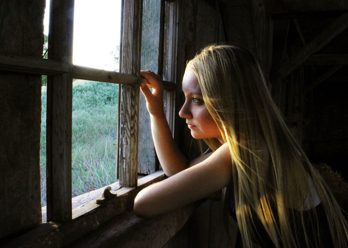 Wind Like Whispers Window Contemplation Blond Hair One Person People Women Adult One Woman Only Only Women Young Adult Females Young Women Indoors  Day One Young Woman Only Adults Only
