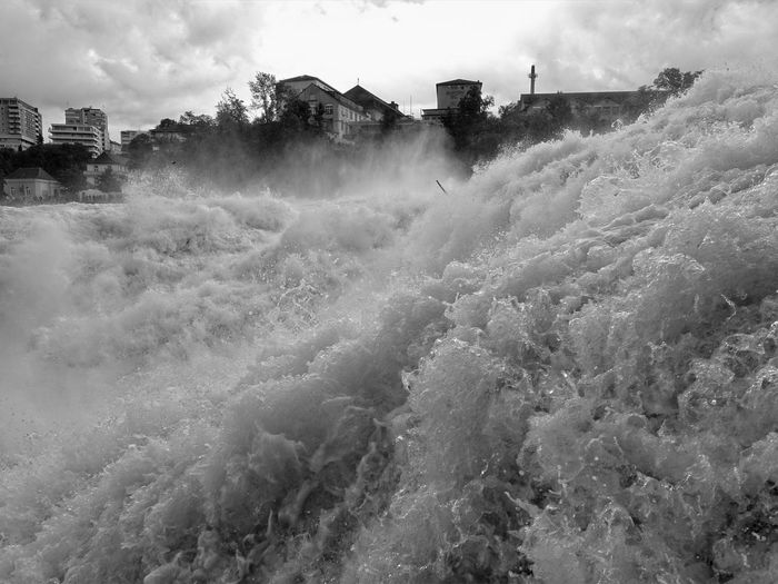 Scenic view of rhine falls