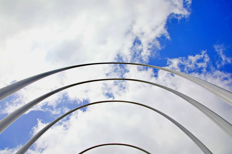 Low angle view of structure against sky