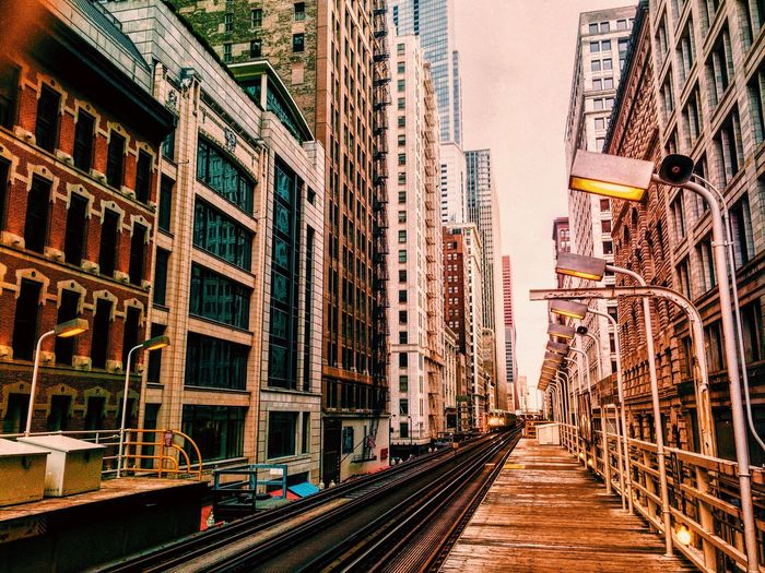 A train ride without a planned destination. - Chicago; Greenline Train Chicago Train Tracks First Eyeem Photo
