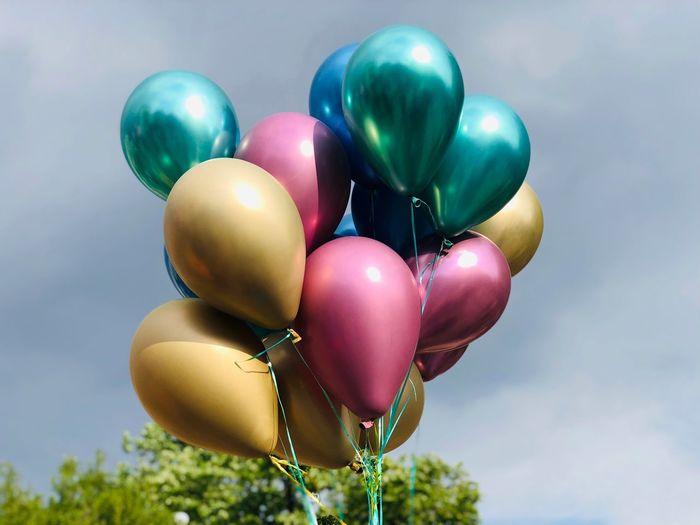 Balloon Celebration Helium Balloon Nature Multi Colored Decoration No People